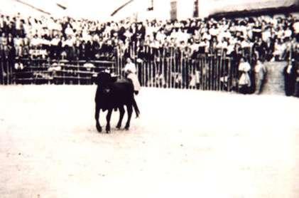 127.-Actuacion-en-la-plaza-de-toros-de-palos.-Decada-de-1950.-Procedencia-Archivo-Municipal
