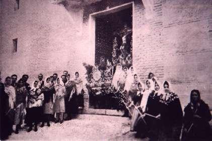 143.-Salida-de-la-Procesion-del-Stmo.-Cristo-de-la-Sala.-Ano-1922.-Pr.-Jose-Luis-Tellez-de-Cepeda