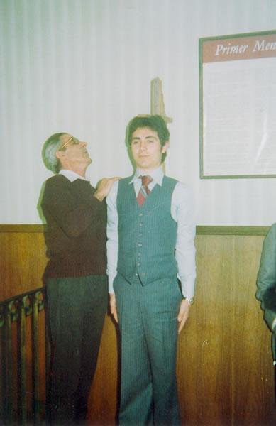 296.-Jose-Luis-del-Cerro-Fernandez--El-Cholas--en-el-dia-de-su-talla.-Ano-1976.-Procedencia-Manuela-Garc