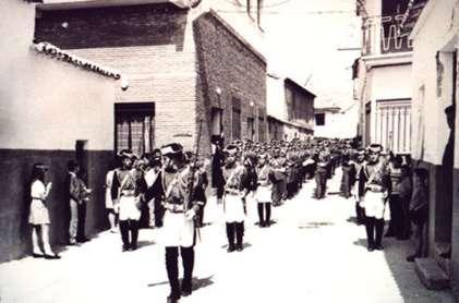71.-Banda-de-musica-de-Guardias-Civiles-Duque-de-Ahumada-de-Valdemoro.-Hacia-1970.-Pr.-Raul-Cerro