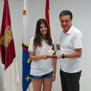 Laura Alonso Vara, campeona absoluta femenina de Castilla La Mancha de ajedrez. Karim Rodríguez 6º clasificado masculino