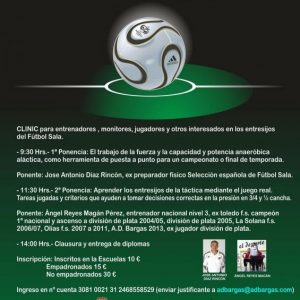1er Clinic de Futbol Sala en Bargas