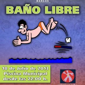 BAÑO LIBRE NOCTURNO GRATUITO – Verano Cultural 2013