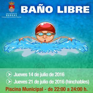 Baños Libres en la Piscina Municipal – 2016