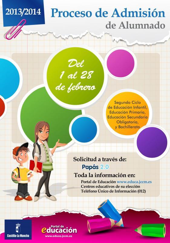 Proceso de Admisión de alumnado para el curso 2103-2014