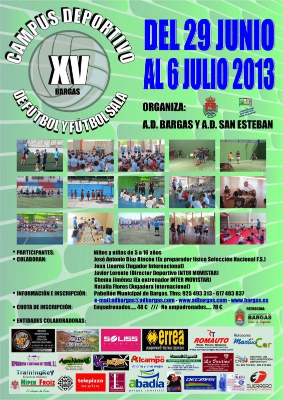 XV Campus de Fútbol y Fútbol Sala 2013