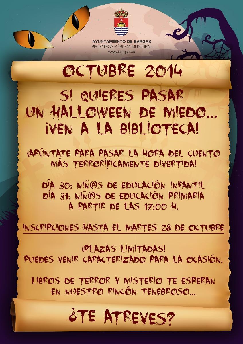 Si quieres pasar un Halloween de miedo… ¡Ven a la Biblioteca!