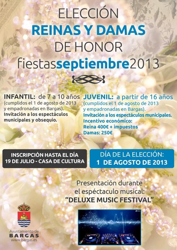 Deluxe Music Festival y Elección Reinas y Damas 2013