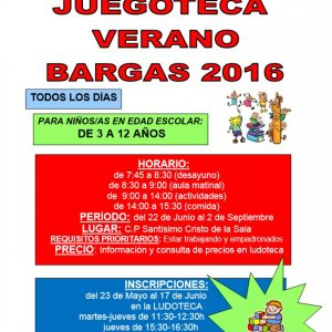 Juegoteca Bargas – Verano 2016
