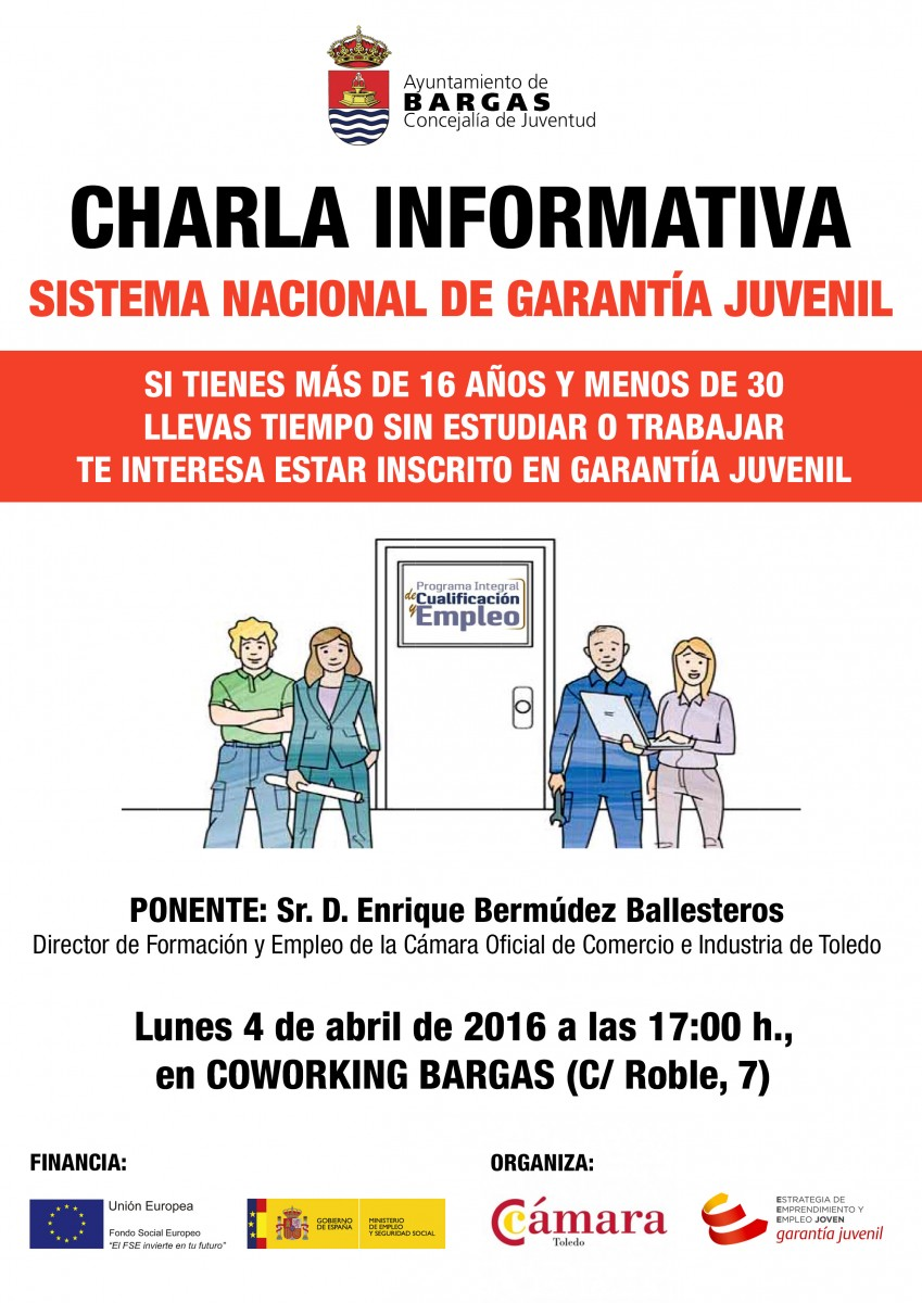 Charla informativa: Sistema Nacional de garantía juvenil