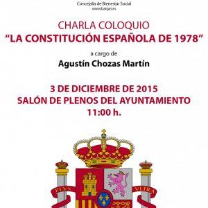 Charla coloquio. La Constitución española de 1978″»