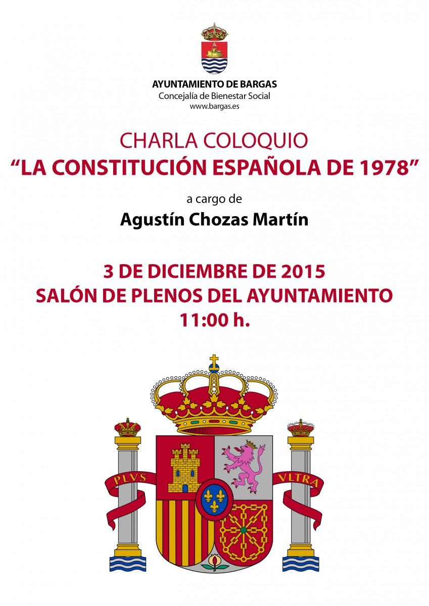 """Charla coloquio. La Constitución española de 1978″"""""""