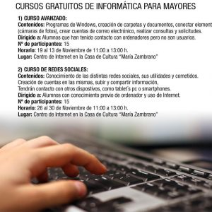 Cursos de informática gratuitos para mayores