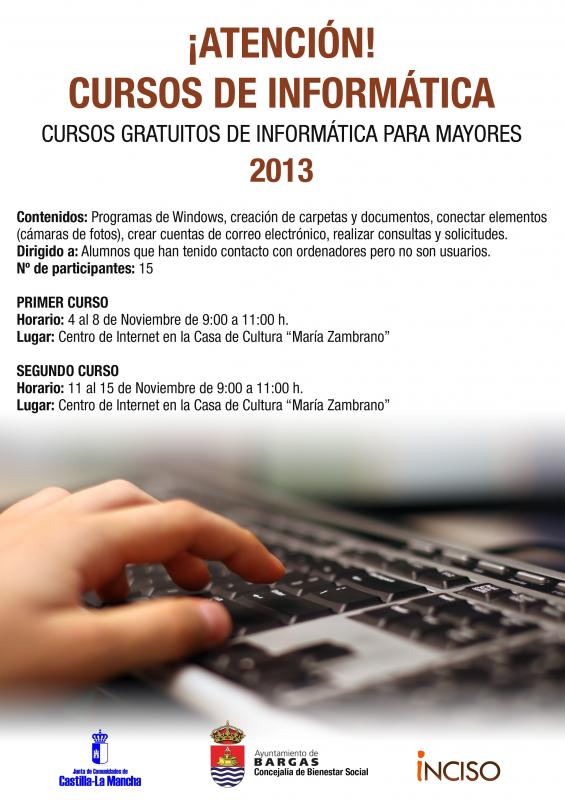 Cursos de informática para mayores 2013