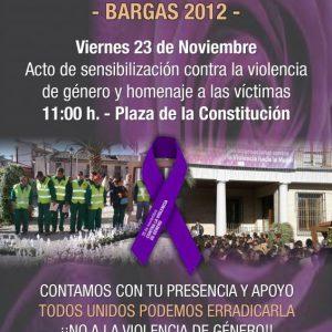 UN AÑO MAS EL AYUNTAMIENTO DE BARGAS SE UNE A LA CONMEMORACION DEL DIA INTERNACIONAL CONTRA LA VIOLENCIA DE GENERO