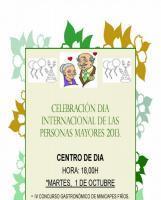 Celebración Dia internacional de las Personas mayores 2013