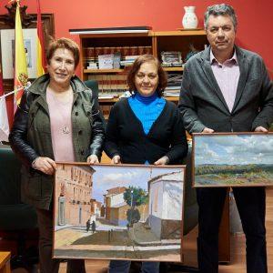 EL AYUNTAMIENTO DE BARGAS RECIBE LA DONACIÓN DE UNAS OBRAS DEL PINTOR FRANCISCO RODRIGUEZ ANDRADE