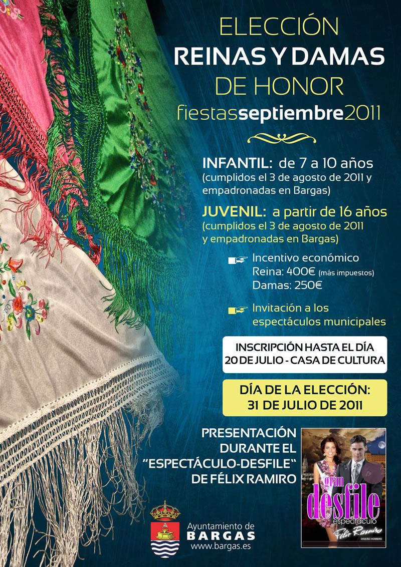 Elección Reinas y Damas de Honor – Fiestas Populares de Bargas 2011