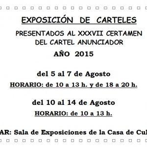 Exposición del XXXVII Certamen del Cartel Anunciador de las Fiestas 2015