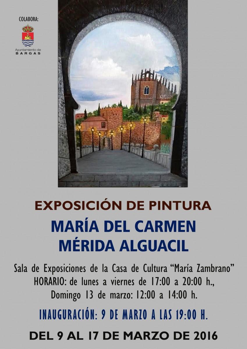 Exposición de Pintura: María del Carmen Mérida Alguacil