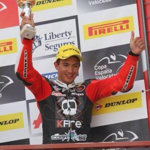 Christian Palomares, piloto bargueño en la copa de España de velocidad en jerez.