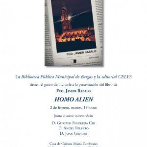 Presentación del libro Homo Alien» de Francisco Javier Rabalo»