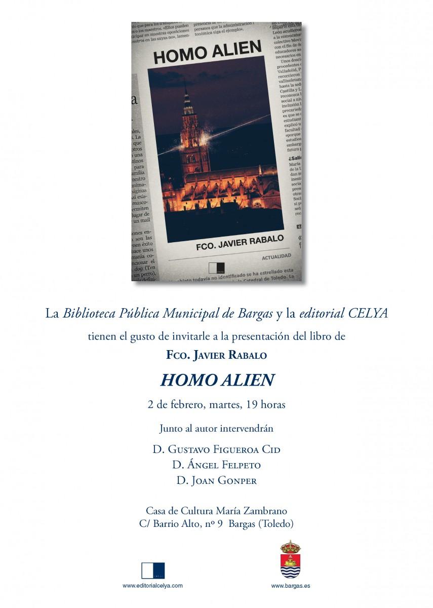 """Presentación del libro Homo Alien"""" de Francisco Javier Rabalo"""""""