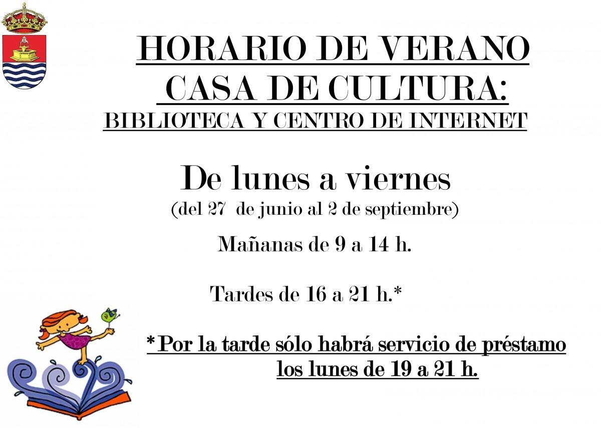 Biblioteca Pública Municipal – Horario de Verano 2016