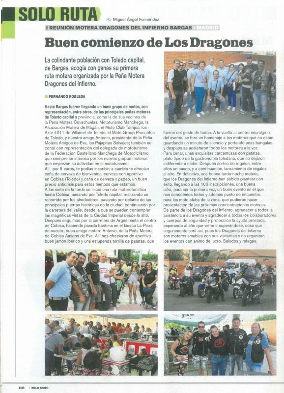 I Reunión motera en Bargas