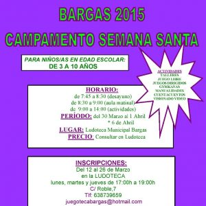 Juegoteca Campamento de Semana Santa 2015