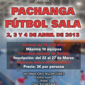 Pachanga Fútbol Sala 2013 (de 14 a 30 años)