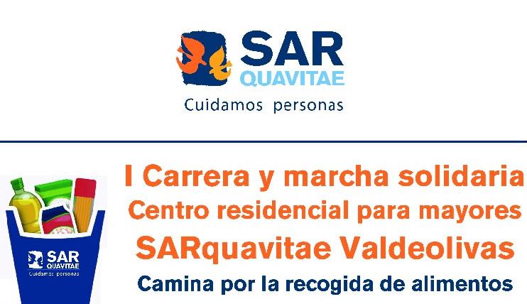 I Carrera y marcha solidaria. Centro residencial para mayores. SARquavitae Valdeolivas