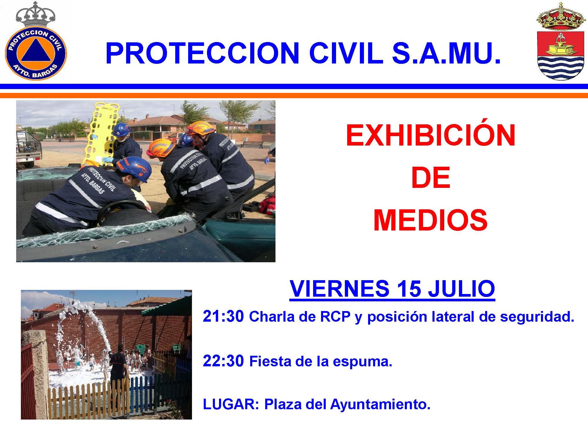 Exhibición de protección civil