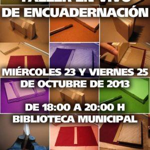 Taller en vivo de encuadernación, en conmemoración del Día Internacional de la Biblioteca – 24 de octubre.