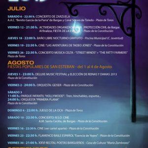 FIESTAS POPULARES DE SAN ESTEBAN – del 1 al 4 de Agosto