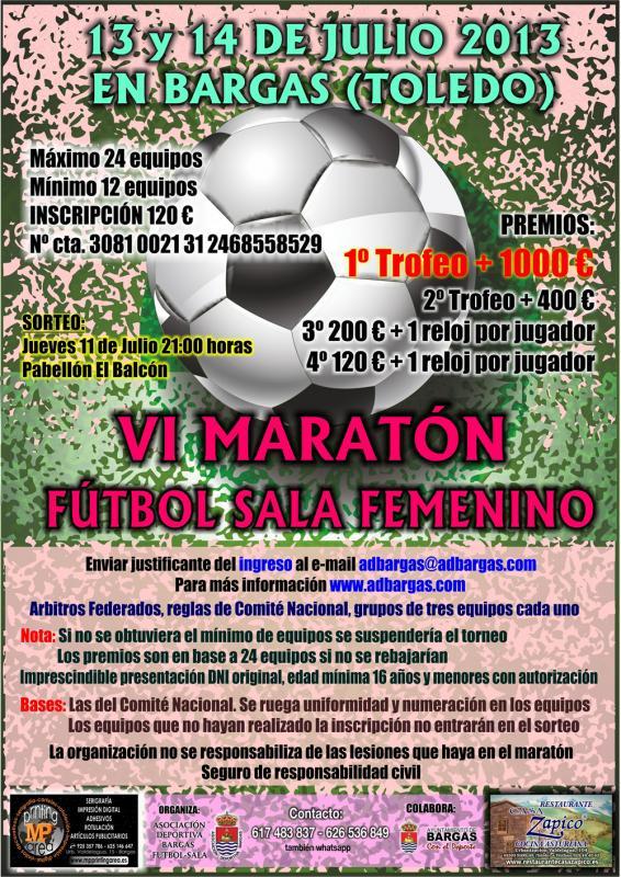 VI Maratón de Fútbol Sala Femenino