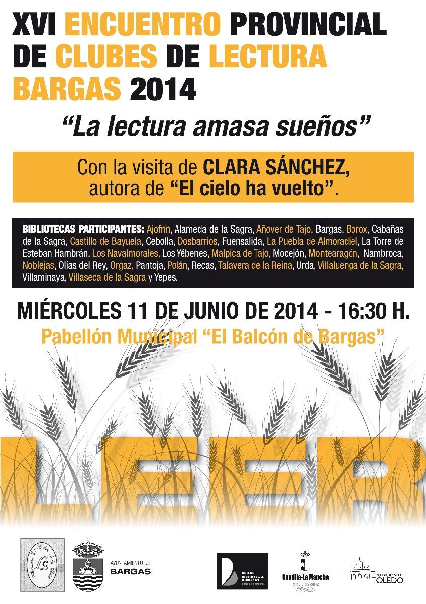 XVI Encuentro provincial de clubes de lectura Bargas 2014.