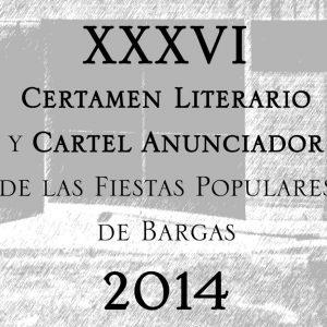 XXXVI Certamen literario y cartel anunciador de la fiestas populares 2014.