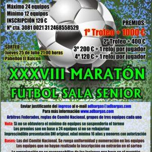 XXXVIII Maratón de Fútbol Sala Senior