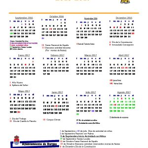 Calendario 2016-2017 Escuela infantil