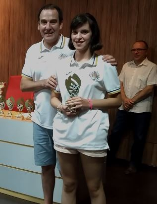 Caterina Periotto mejor 4º tablero Sub-12
