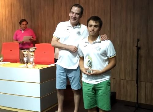 Samuel Bustos mejor 2º tablero Sub-18