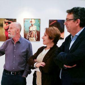 Inauguración de la exposición de pintura de Juan Sangrador