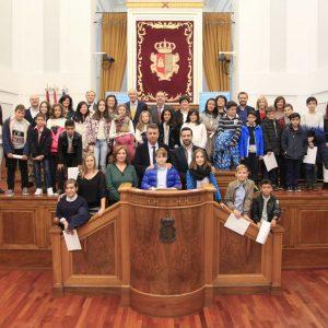 El Colegio Público Stmo. Cristo de la Sala de Bargas, representante de la provincia de Toledo en el Pleno Infantil de las Cortes de Castilla La Mancha.