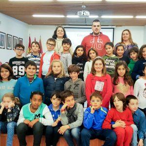 Nueva visita de alumnos del Colegio Pintor Tomás Camarero de Bargas al Ayuntamiento