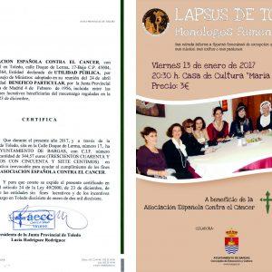 Donación a la Asociación Española Contra el Cáncer
