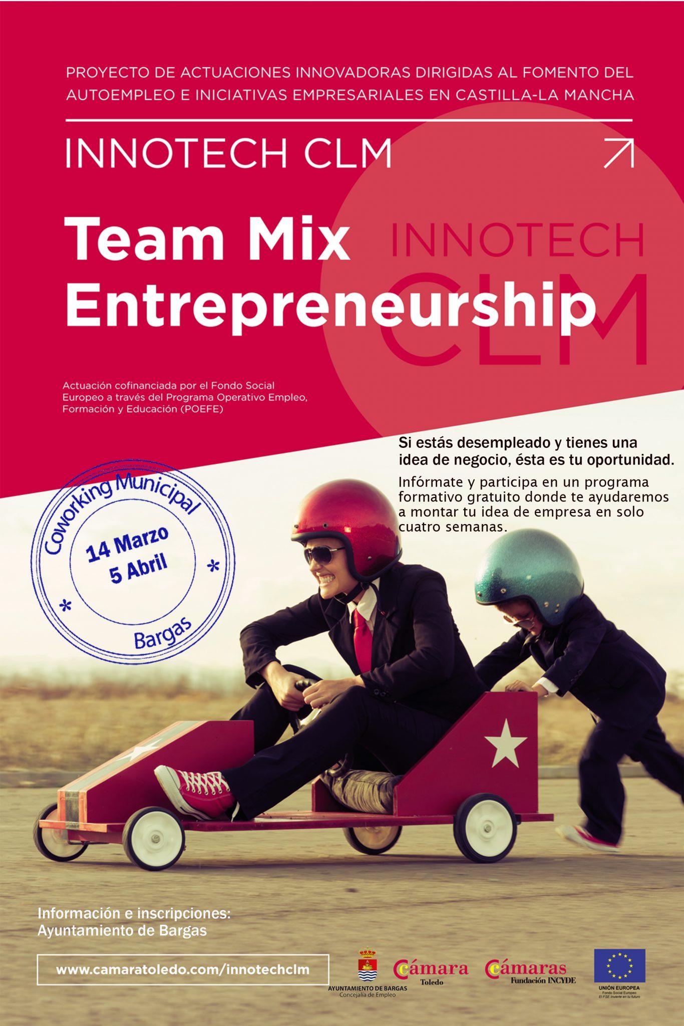 Nuevo Curso para Emprendedores Team Mix en Bargas