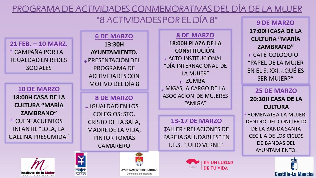 Actividades conmemorativas del Día de La Mujer – 8 actividades por el día 8