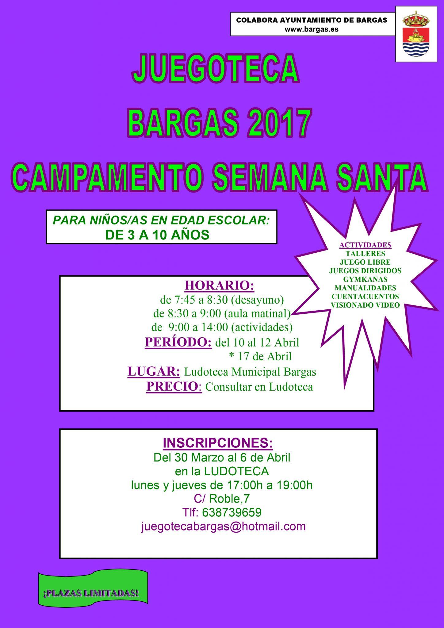 Juegoteca Campamento Semana Santa 2017