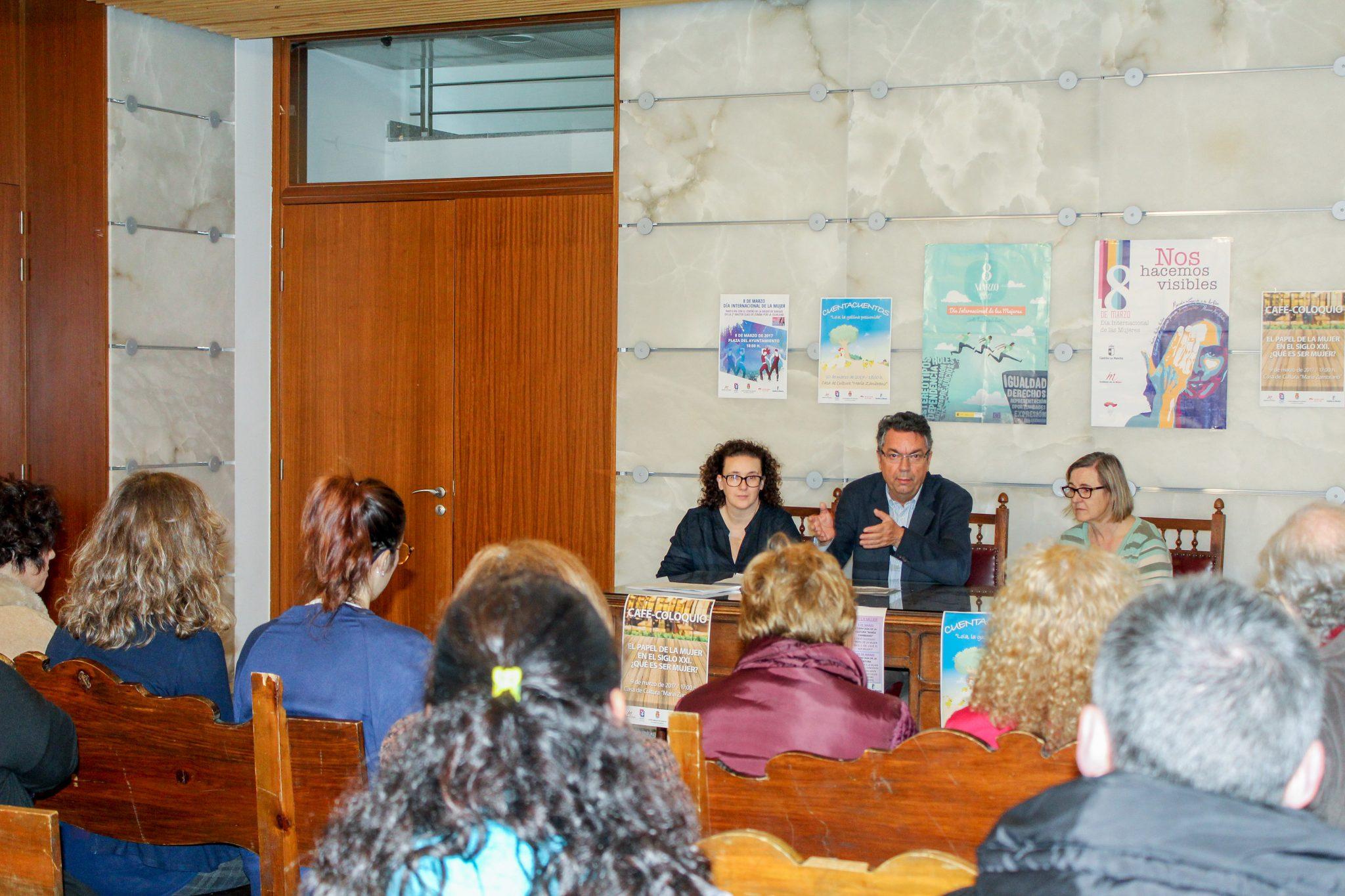 Presentación del Programa de Actividades con motivo del Día Internacional de La Mujer